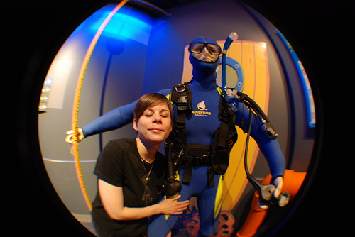 Kristyn and a Deep Sea Diver