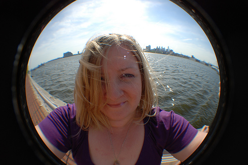 Me outside in front of the Delaware River.