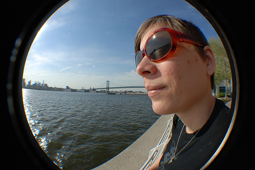 Kristyn and the Delaware River.