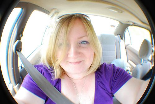 Me en el carro.